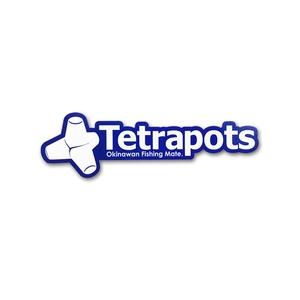 テトラポッツ(Tetrapots) Frame Logo Sticker ブルー TPG-037