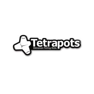 テトラポッツ(Tetrapots) Frame Logo Sticker ブラック TPG-037