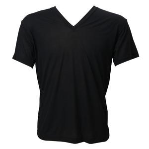 Jewel(ジュエル) 半袖V首シャツ 100-630 L 黒