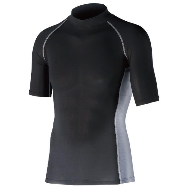 おたふく手袋(OTAFUKU) ストレッチ 半袖ハイネック JW-624 メンズ速乾性半袖Tシャツ