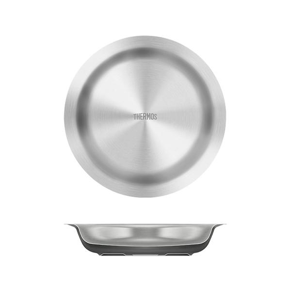 サーモス(THERMOS) 真空断熱ステンレス深型プレート ROT-002 ステンレス製お皿