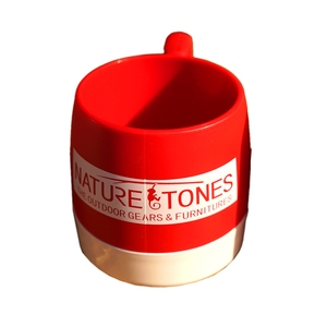 ネイチャートーンズ(NATURE TONES) DINEX NATURETONESロゴ マグカップ 240ml レッド×オフィホワイト DI-NT-R/W