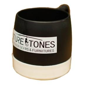 ネイチャートーンズ(NATURE TONES) DINEX NATURETONESロゴ マグカップ 240ml ブラック×ホワイト DI-NT-B/W