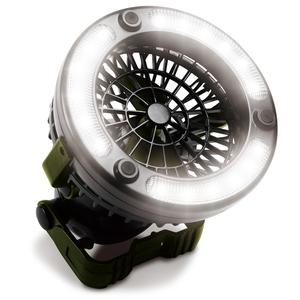 アウトドアマン(OUTDOOR MAN) ファン&ライト+ 最大80ルーメン 単一電池式 ブラック KOLT-001B