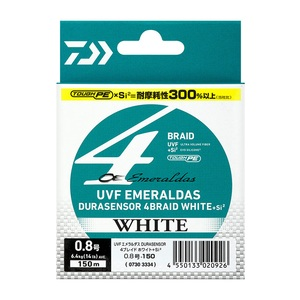 ダイワ(Daiwa) UVFエメラルダスデュラセンサー4ブレイドホワイトSi2 100m 0.6号/10lb 07303321