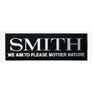 スミス(SMITH LTD) スミスロゴ銀ツヤステッカーS