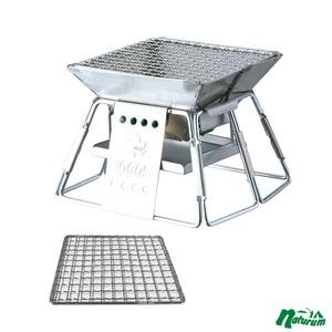 ロゴス(LOGOS) ピラミッドグリル・コンパクト+BBQヤキアミタイプ【お得な2点セット】 R14AI035