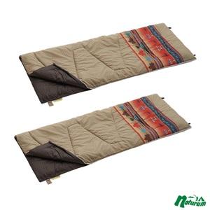 ロゴス(LOGOS) 丸洗い寝袋ファミリー・10(ナバホ) +丸洗い寝袋ファミリー・10(ナバホ) 【お得な2点セット】 R12AI003