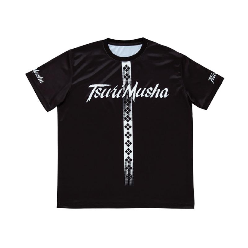 釣武者 クールフィット Tシャツ M ブラック