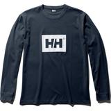 HELLY HANSEN(ヘリーハンセン) L/S SOLID LOGO TEE(ロングスリーブ ソリッド ロゴ ティー) HE31960 メンズ速乾性長袖Tシャツ