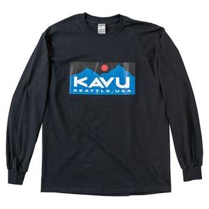 KAVU(カブー) スクエアロゴL/S Tee 19821128001007