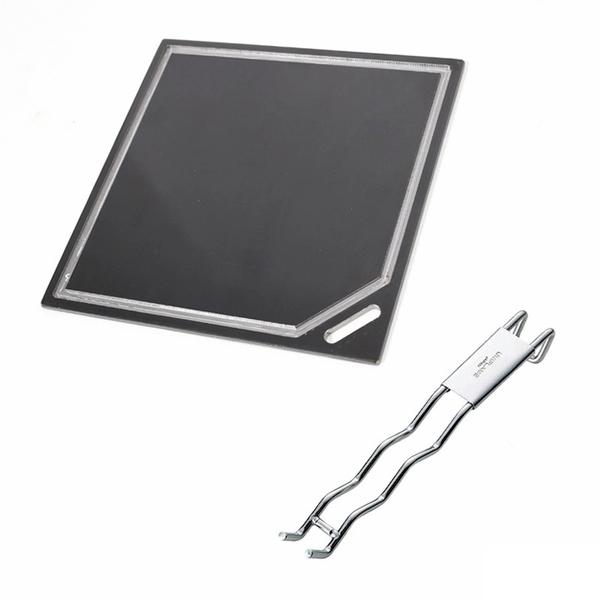 ユニフレーム(UNIFLAME) クロテツ/KUROTETU+ウェーブ 焼網ハンドル【2点セット】 網、鉄板