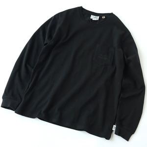 ロゴプリントP付き ロンTee M 05(ブラック)