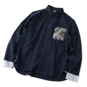 gym master(ジムマスター) ジャガードポケット フランネルシャツ G302604