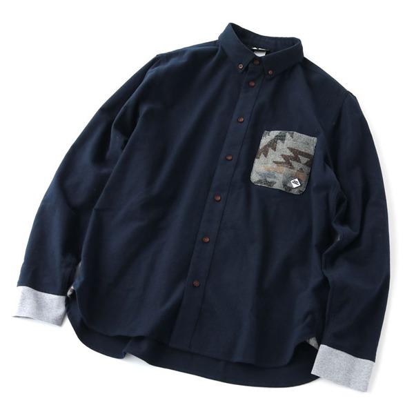 gym master(ジムマスター) ジャガードポケット フランネルシャツ G302604 メンズ長袖シャツ