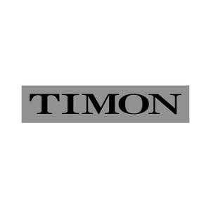 TIMON(ティモン/鮭鱒) TIMON カッティングステッカー M ブラック