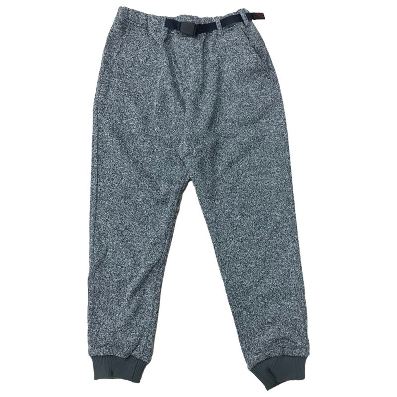 GRAMICCI(グラミチ) BONDING KNIT FLEECE NARROW RIB PANTS L GREY×NAVY GUP-016