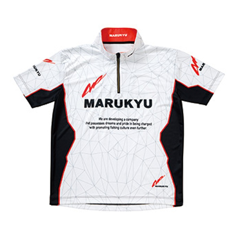 マルキュー(MARUKYU) マルキユージップアップシャツ02(半袖) L ホワイト 16487
