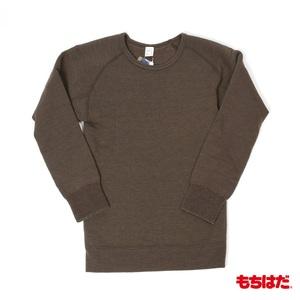 もちはだ もちはだ ホットウエアーシリーズ 裏起毛 特殊起毛保温 シャツ(長袖丸首) 138-215