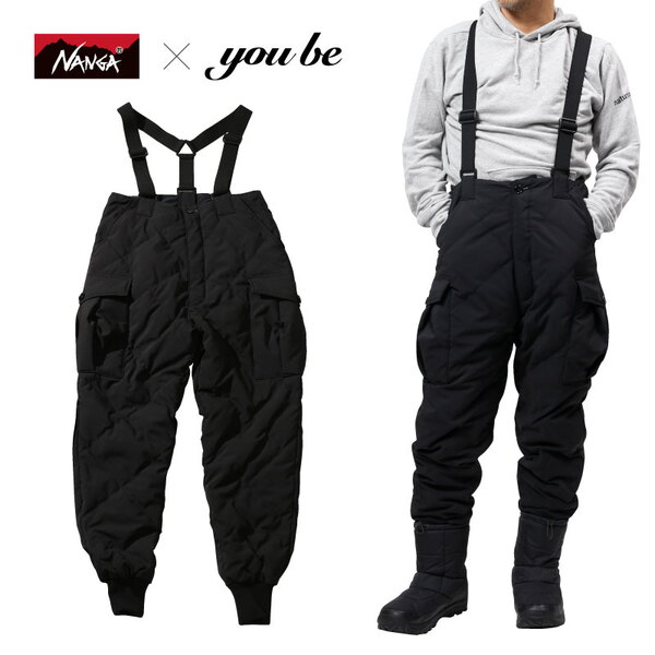 ナンガ(NANGA) 【 NANGA×you beコラボ企画】DOWN CARGO PANTS(ダウン カーゴ パンツ) NMNDZE1 フィッシングパンツ