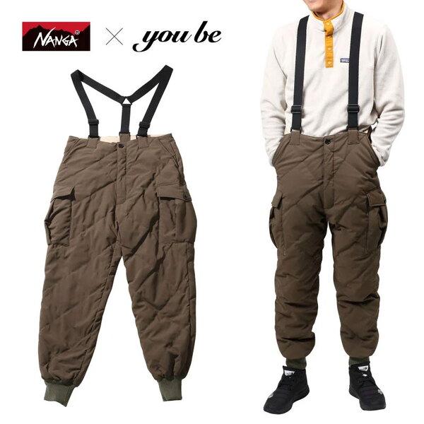 ナンガ(NANGA) 【 NANGA×you beコラボ企画】DOWN CARGO PANTS(ダウン カーゴ パンツ) NMNDK2G1 フィッシングパンツ