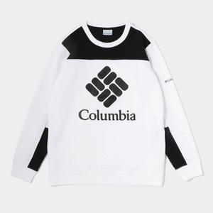 コロンビア ロッジ カラーブロック クルー Men's M 100(WHITE×BLACK)
