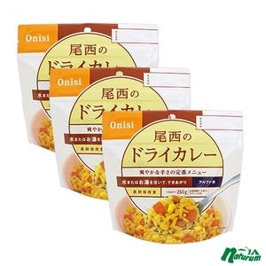 尾西食品 アルファ米(1食分) ドライカレー【3点セット】 2936742