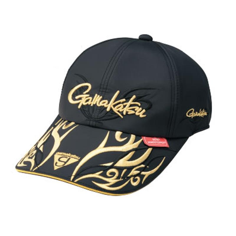 がまかつ(Gamakatsu) ウィンドストッパーロングバイザーキャップ GM-9842 M ブラック×ゴールド 59842-22-0