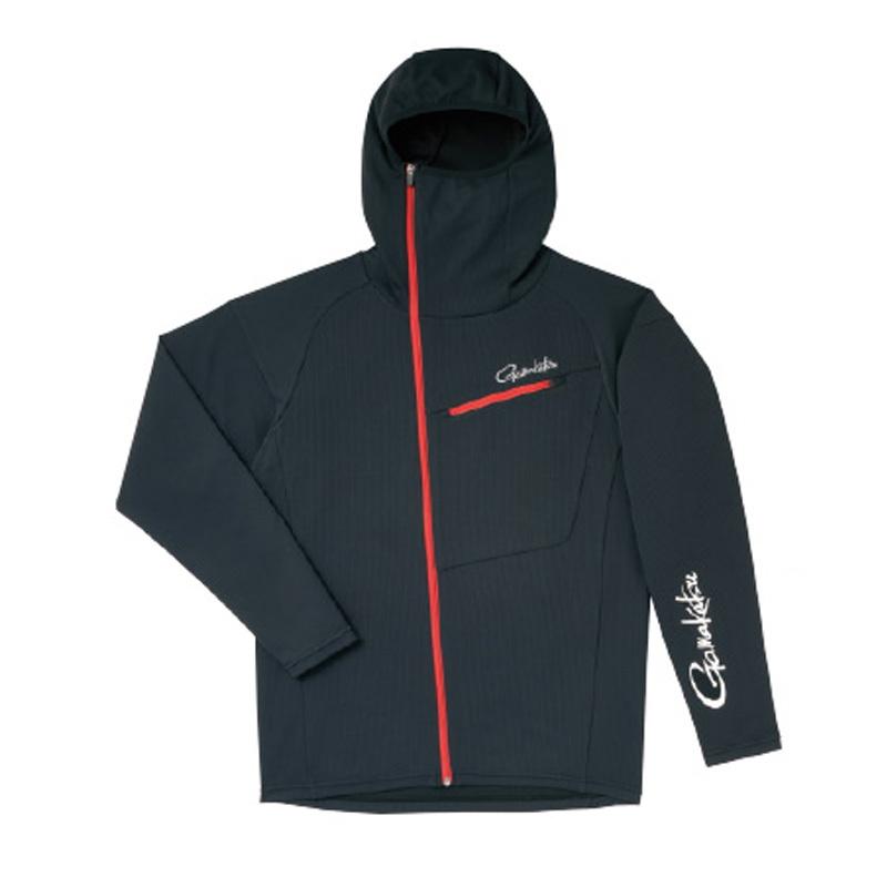 がまかつ(Gamakatsu) フーデッドジップシャツ GM-3566 M ブラック 53566-12-0