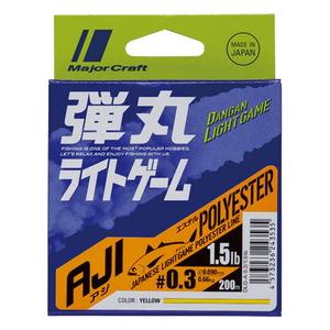 メジャークラフト 弾丸 ライトゲーム AJI ポリエステル 200m DLG-A 0.25/1.2lb