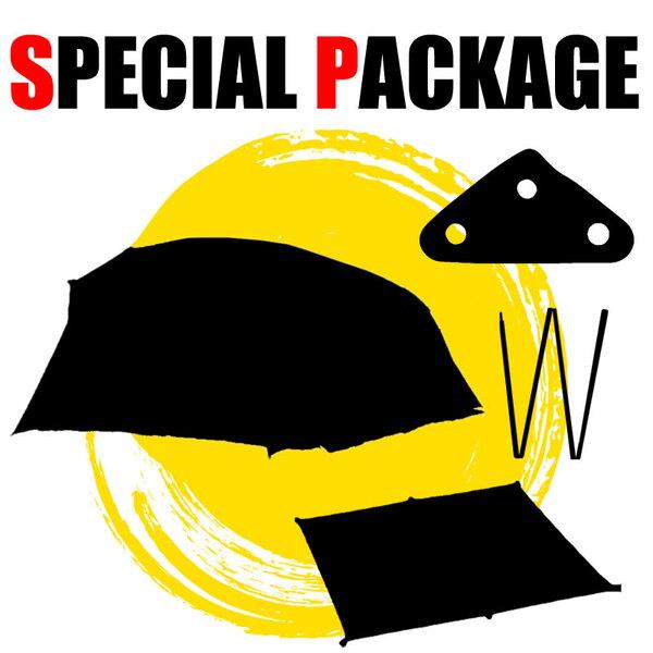 ナチュラム トンネル型高級テント+キャンプ関連小物3種【お買い得(秘)パッケージ】 ファミリードームテント