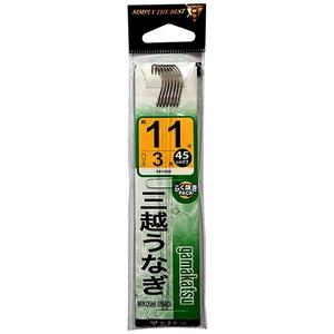 がまかつ(Gamakatsu) 三越うなぎ(糸付) 鈎14号/ハリス5 茶 11183-14-5-07
