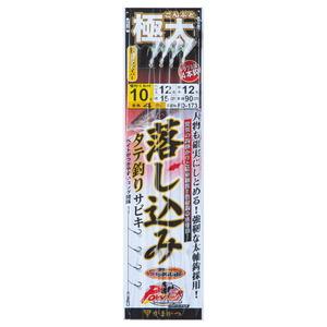 がまかつ(Gamakatsu) パワーシリーズ 極太落し込みサビキ FD173 鈎12号/ハリス16 銀 42513-12-16