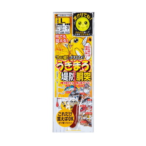 がまかつ(Gamakatsu) うきまろ堤防胴突仕掛 UM102 M 白×赤 45451-2-1-07