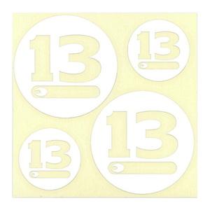 ブリーデン(BREADEN) ディカール Bーサークル(13CIRCLE) #01 ホワイト 5027