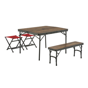 ロゴス(LOGOS) Tracksleeper ベンチ&チェアテーブルセット4 73188004 テーブル・チェアセット
