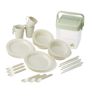 ロゴス(LOGOS) 箸付き食器セットBOX(6人用) 81285028 テーブルウェアセット