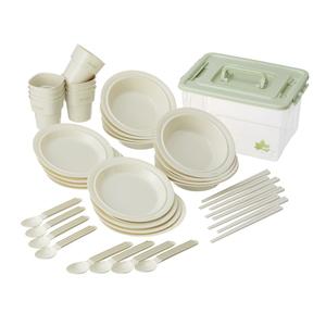 ロゴス(LOGOS) 箸付き食器セットBOX(8人用) 81285029