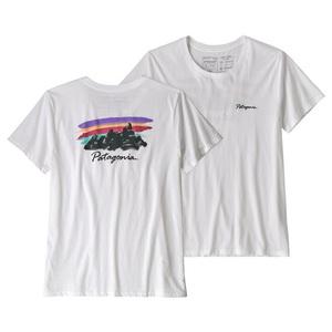 パタゴニア(patagonia) ウィメンズ フリーハンド フィッツ ロイ オーガニック クルー Tシャツ 39575 レディース半袖Tシャツ