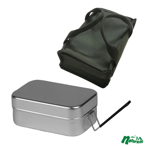 スプラッシュ フラッシュ(SPLASH FLASH) メスティン+八号帆布 飯盒箱 カーキ (大)(メスティンケースラージ)