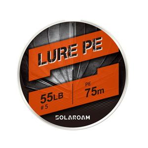 東レモノフィラメント(TORAY) ソラローム ルアー PE 75m 20lb シルバーグレー F72R