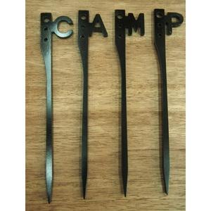 CAMP873(キャンプヤナサン) イニシャルペグG CAMP4本セット 19009