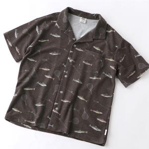 gym master(ジムマスター) 梨地ハッピーペイントオープンカラーシャツ G433696