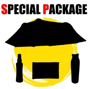 ナチュラム *カマボコ型4人向けテント+キャンプ小物3種【お買い得(秘)パッケージ】