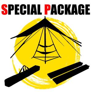 ナチュラム 某U社のコスパ最強ポール+キャンプ小物限定2種【お買い得(秘)パッケージ】