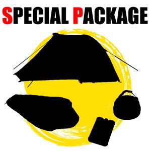 ナチュラム 前室も広々でツーリングに最適なテント+シュラフ+小物2種【お買い得(秘)パッケージ】