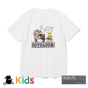 ジーアールエヌアウトドア(grn outdoor) SOTOASOBI SNOOPY S/S TEE(Kid's) GOK0103R