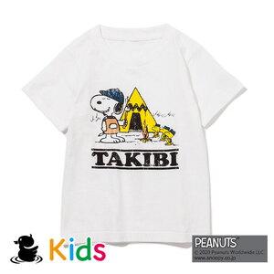 ジーアールエヌアウトドア(grn outdoor) TAKIBI SNOOPY S/S TEE(KIDS) GOK0104R