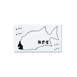 釣武者 クチジロステッカーセット ホワイト
