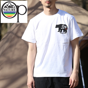 オーシャンパシフィック(Ocean Pacific) 【OP×ナチュラム】5.6オンス プリント Tシャツ くま 横 599008-R